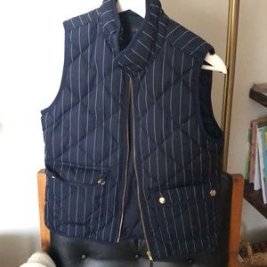 Navy and white striped vest from Jcrew
